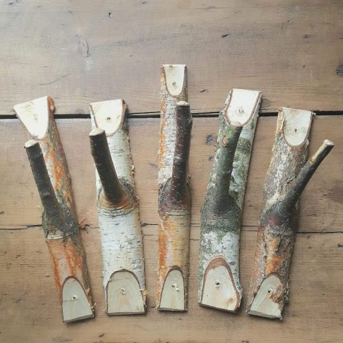 Birch coat hooks
