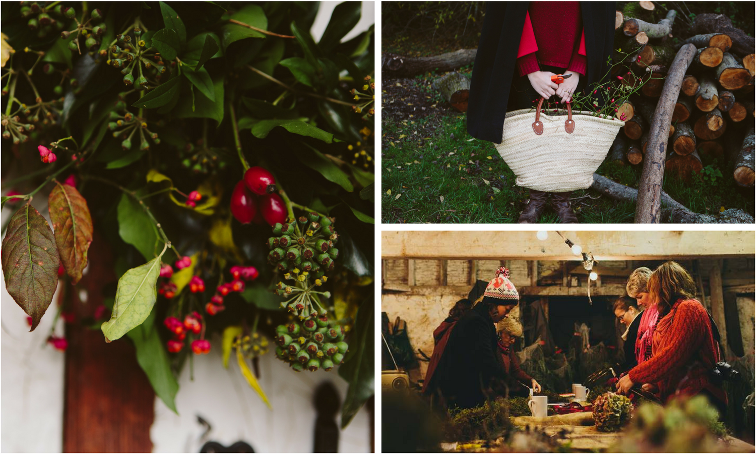 Christmas wreath workshop in West Sussex