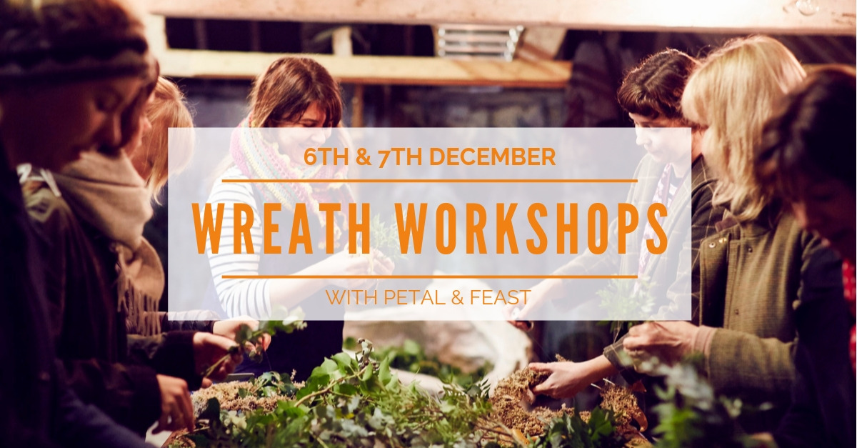 Wreath workshops at Wild Sussex with Petal & Feast