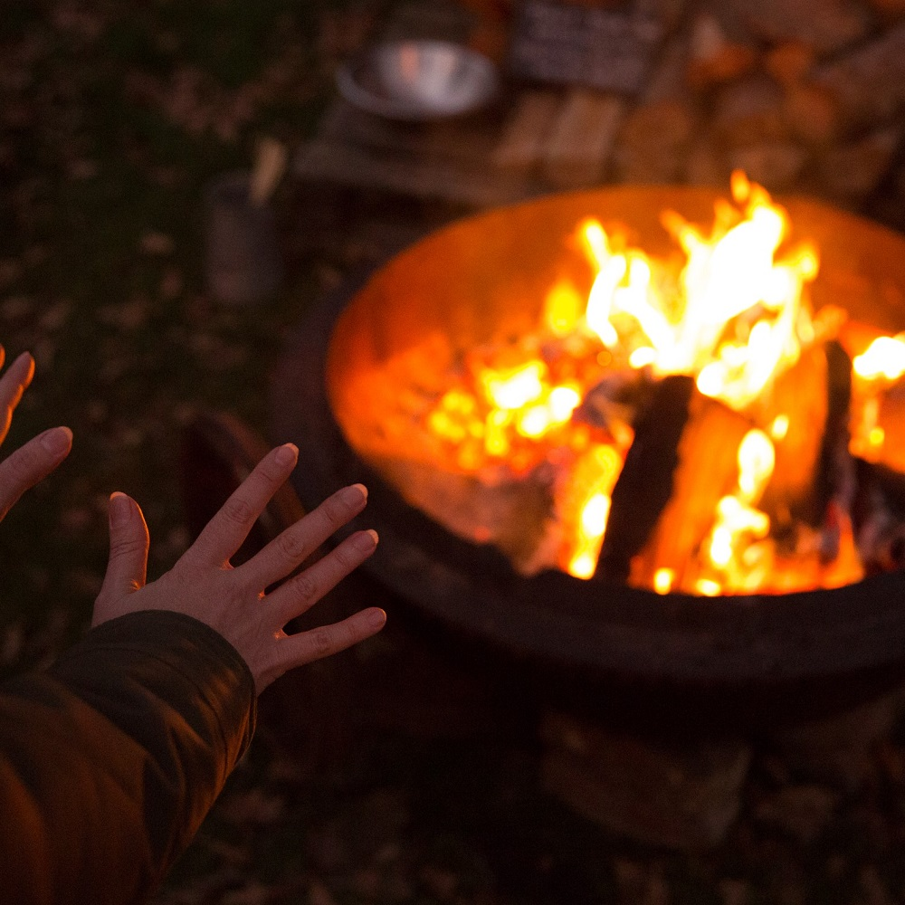 Toasting marshmallows in the Wild Sussex Wood Yard
