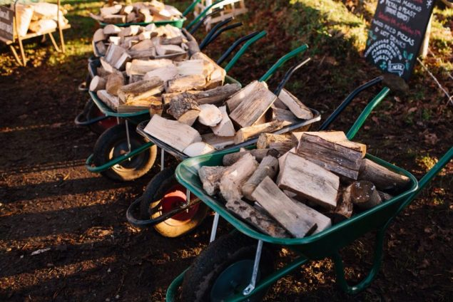 Three barrows of logs from Wild Sussex