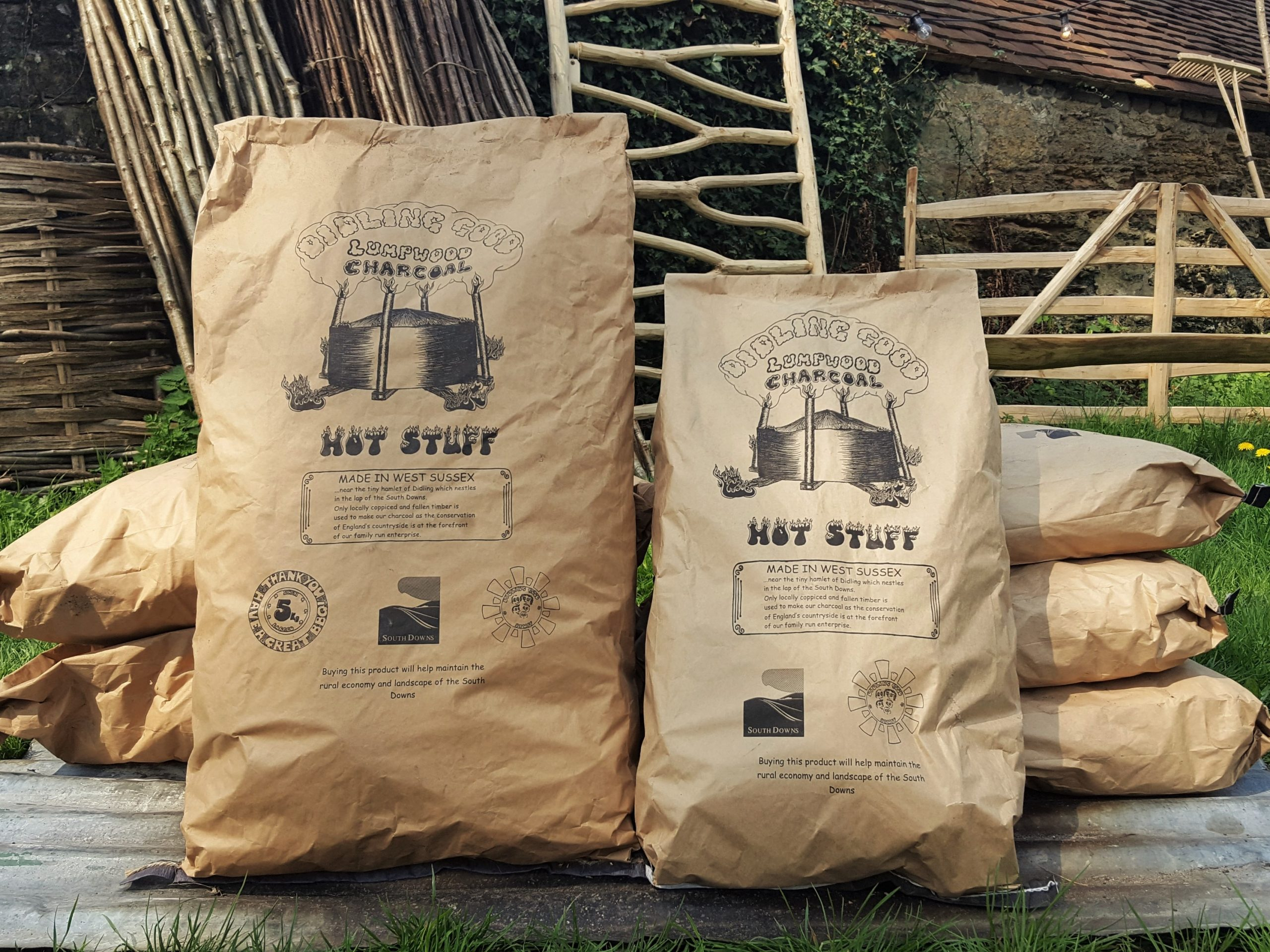 Bags of local charcoal