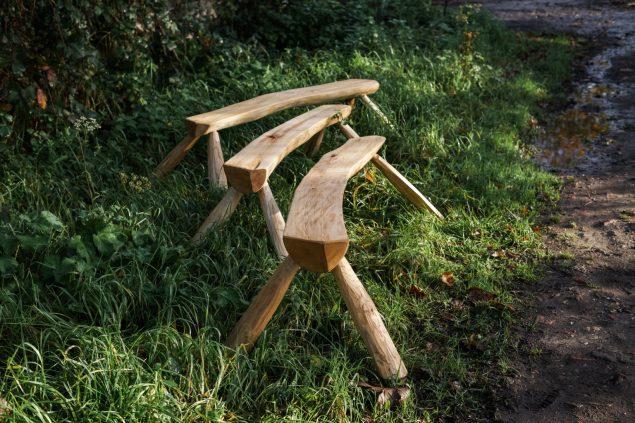Sweet chestnut bench